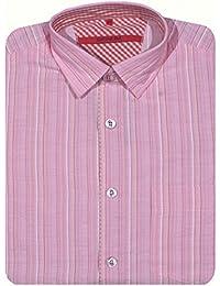 Signum, langarm Hemd, 924847, rosa apricot weiß merlot gestreift [9848]