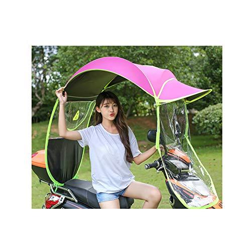 GFE Motorrad Regenschutz, Universal Auto Motor Roller Regenschirm Mobilität Sonnenschutz & Regenschutz Wasserdicht,Red -