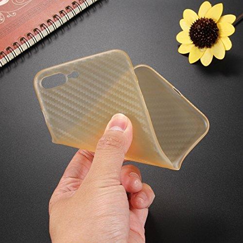 Carbon Fiber Texture PP Schutzmaßnahmen zurück Fall für iPhone 7 Plus by diebelleu ( Color : Black ) Yellow