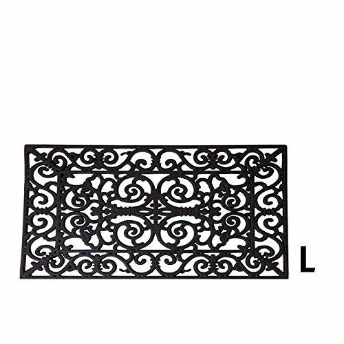 Fallen de primer plano de RB03 rectangular Felpudo de goma - negro
