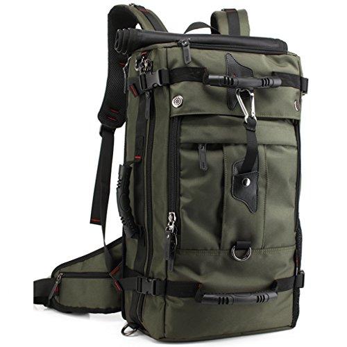 mlsh 50L Wandern Rucksack Multifunktions-Stecker Rucksack Wasserdicht Groß Rucksack Reisen Outdoor Bergsteigen Reise Tasche groß Kapazität Grün