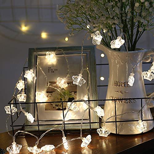 XCXDX Blanco Caliente con Pilas De La Luz De Hadas De La Cadena De La Corona del LED para La Decoración Casera, Dormitorio, Partido, Barra