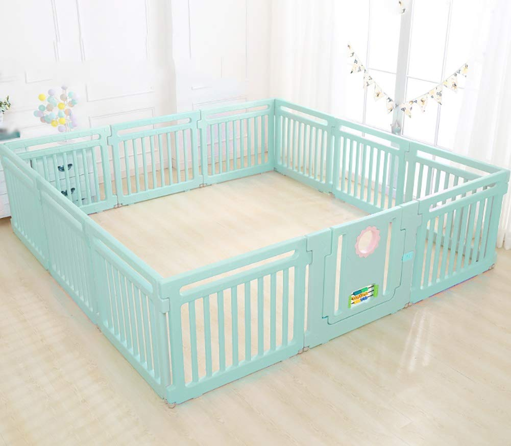 Playpen Baby Baby Kids Baby Indoor Outdoor Safety Game Fence Classic Set 11+1 Panel (color : Green)