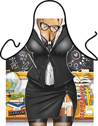 Teacher Lehrerin Klasse - Fun Motiv Schürze - mit (Sexy Lehrerin Halloween)