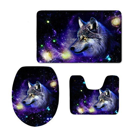 Druck Animal WC-Sitz Flanell Galaxy Star WC Matte, Flanell, color 1, M (Halloween Stock 1)