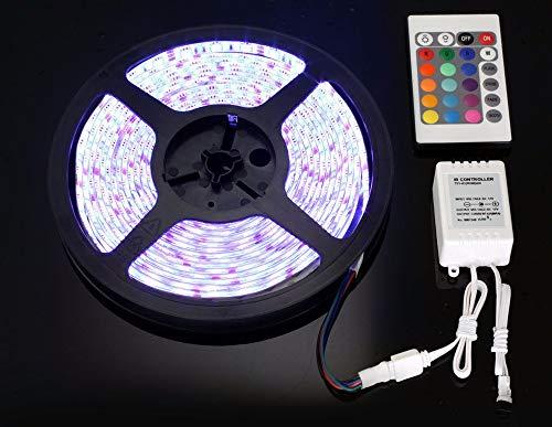 DIKHBJWQ 5M RGB 5050 Nicht wasserdichte LED-Leiste SMD 44 Key Remote 12V Power (Lichterkette/Light/Tischlampe/Nachttischlampe/Nachtlicht) -