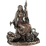 Figura de Frigg, diosa nórdica del amor, de bronce, escultura de Veronese