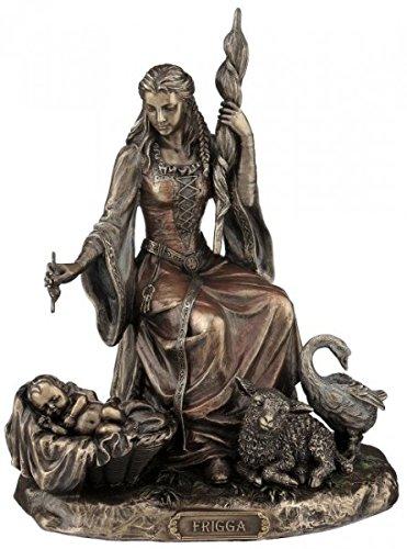 Unbekannt Figura Frigga, Diosa nórdica del Amor Escultura Bronce Veronese Odin Frigg