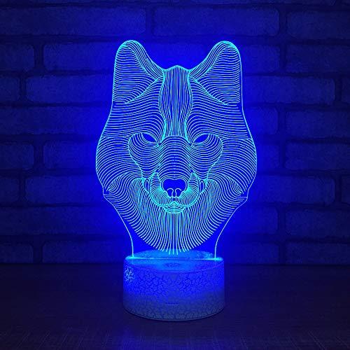 Werewtr 3D-Nachttischlampe mit 7 wechselnden Farben, 3D-Nachtlicht, Acylic 3D-Nachtlicht, Schreibtischlampe, Schreibtischlampe, als Dekoration für Haus, Weihnachtsgeschenk