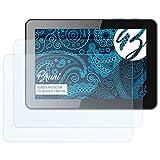 Bruni Schutzfolie für bq Edison 3 WiFi/3G Folie, glasklare Bildschirmschutzfolie (2X)