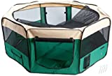 Easipet Fabric Pet Play pen, Small, Green