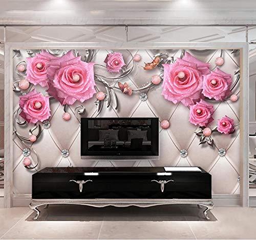 Benutzerdefinierte 3D Fototapeten Wandbilder Moderner Schmuck Blume Tv Hintergrund Wandbild Wohnzimmer Schlafzimmer Wasserdichte Tapete