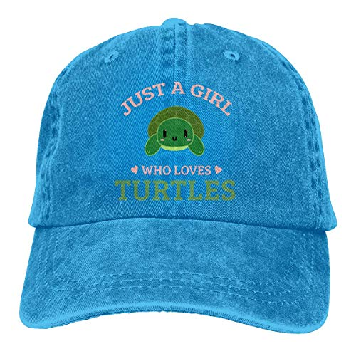 Baseballkappe Sport-Mütze Just A Girl Who Loves Turtles Sea Men's Women's Adjustable Baseball Hat Yarn-Dyed Denim Dad Hats Sports Cool Youth Golf Ball Unisex Cowboy hat fedora beach hiking skull 3D P