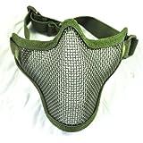 Máscara protectora de malla para Airsoft - Verde oliva