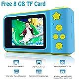 Fotocamera digitale per bambini, HD 1080p, con scheda TF da 8 GB, con schermo da 5,1 cm, giocattolo per ragazzi e ragazze, regalo di compleanno, per imparare a fare sport con 5 giochi