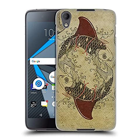 Official Vin Zzep Koi Shark Fin Fish Hard Back Case for BlackBerry DTEK50 / Neon