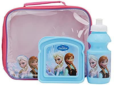 Set 3pcs Disney Frozen (Cantimplora+Sandwichera+Portamerienda) de MegaBrands