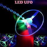 Vovotrade Funny Coloré Pull String UFO LED Light Up Soucoupe Volante Jouet Enfants...