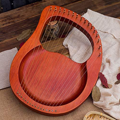 Tragbare 16 String Kleine Harfe, Harfe Metallsaiten, Mahagoni Lye Harfe, mit Stimmschlüssel und Schwarz Gig Bag, Großes Geschenk für Anfänger, Musikliebhaber