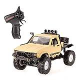 Goolsky Camion WPL C14 1/16 2.4GHz 4WD RC Crawler Tout Terrain Semi-remorque de Voiture avec Phare RTR