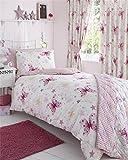 Kid's Club Bettdeckenbezug undKissenbezug, Schmetterling-Desgin, für Einzelbett, Polycotton, Mehrfarbig
