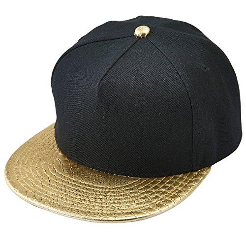 Shanxing Snapback Cap Hip Hop Mütze Baseball Kappe für Herren und Damen (Damen Schwarze Leder-baseball-cap)