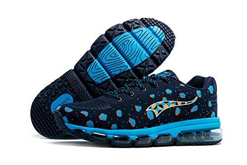Onemix Herren Air Sportschuhe Profil Sohle Laufschuhe Fitness Runners Blau
