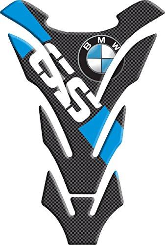 Tankpad Motorad Draht Muster Tankschutz ' BMW GS blau ' Polymer 3D