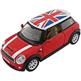 Sports Model Metal Toy Car With Pull Back Mechanism - Red - (1c350) Playing Cars For Kids Mini Cooper