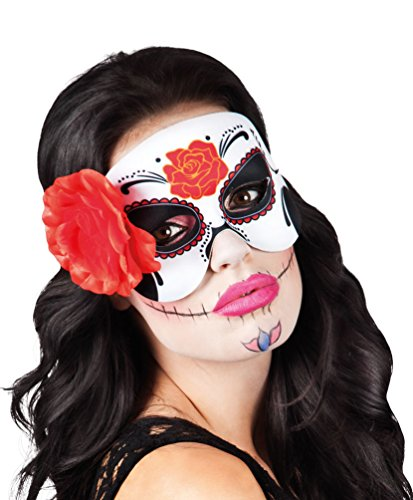 Karneval Klamotten Maske Tag der Toten Augenmaske Halloween Karneval