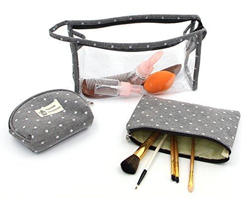 hoyofo 3klar Toiletry Make-up Wash Bag Travel Set Wasserdicht Tasche (Wash Bag Wochenende)