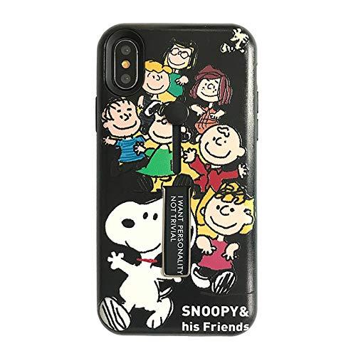 Schutzhülle für iPhone X XS, ultradünn, weiches TPU, schlankes Design, leicht, stoßfest, 3D-Cartoon-Design, niedlich, für Mädchen und Jugendliche, iPhone XR, Black Snoopy