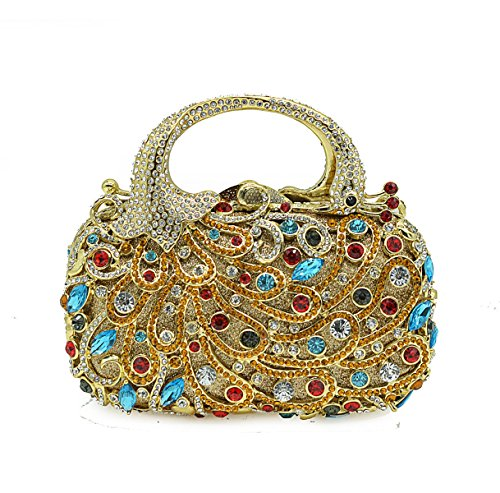 Dinner Package GoldColor Diamond Fashion FZHLY Abendtasche cUOfqgZUR