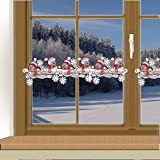 Weihnachts-Feenhausspitze WINTER-SPATZEN zauberhafte Spitzenkante für Scheibengardinenstangen Echte Plauener Spitze