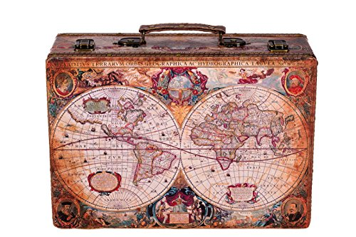 Sarah B Truhe Kiste KD 1288 Koffer, Kofferset, Holztruhe mit edlem Leder bezogen