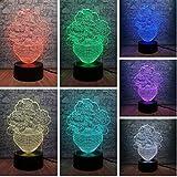 Romantische Rose Blume 3D Led USB Nachtlicht Lampe 7 Farbwechsel Hause Schlafzimmer Party Decor Beleuchtung Mutter Liebhaber Geschenk