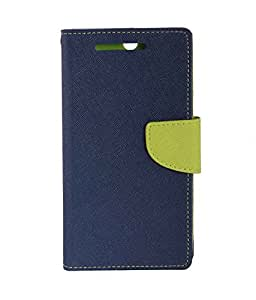 Zocardo Fancy Diary Wallet Flip Case Cover for Samsung Galaxy J1 2016 - Blue - Premium Cover with Inner Pocket