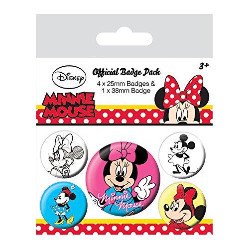 Pyramid International Minnie Maus der vereinsgeschichte Anstecker, Mehrfarbig, 10x 12,5x 1,3cm (Disney Maus Home)