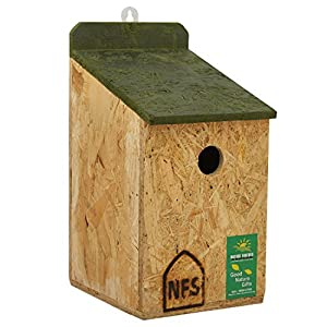 Nature Forever Sparrow and Tit Nest Box, Brown