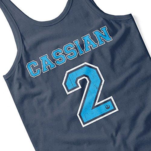Star Wars Rogue One Cassian 2 Men's Vest Navy Blue