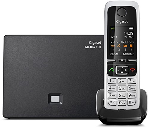 Gigaset C430A Go Telefon / Schnurlostelefon / Mobilteil - TFT - Farbdisplay / Dect - Telefon - 3 Anrufbeantworter / Freisprechfunktion / IP - Telefon, schwarz