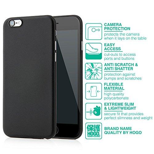 "iPhone 6s (4,7"") Ultra Slim Case - Schutzhülle - ""Mega Slim"" in Spacegrau - Ultra dünne iPhone Hülle - Leicht transparentes iPhone Case - ultra thin - iPhone Cover von Hogo® voll schwarz"