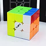 immagine prodotto THE VALK 3 - QiYi MoFangGe 3X3 Professional & Competition SpeedCube Brain Game Puzzle - STICKERLESS