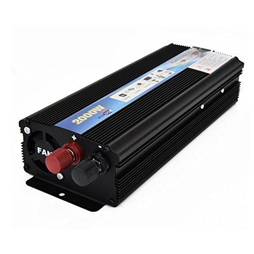 Rokoo 2000W / 4000W Inversor de corriente máxima del coche DC 12V a CA 220V Convertidor de convertidor de cargador USB para vehículo Camioneta rodante RV