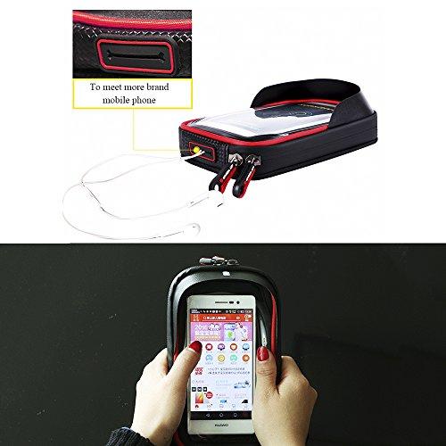 Rad bis Bike vorne Top Tube Touchscreen Satteltasche, Radfahren Rahmen Doppel Tasche Handy Paar Pack rot