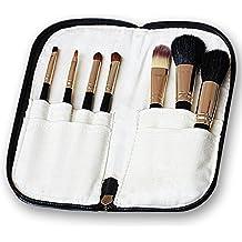 Contever® Kit de 7 Brochas Pinceles De Maquillaje Cosmético Profesional Compone El Bolso Negro