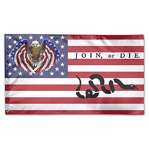 Tomboy-Flagge, 91 x 152 cm, lebendige Farben und farbecht, doppelt genäht, amerikanische Flagge, Polyester mit Messingösen, American Eagle Heimdekoration One Size weiß (Farben Amerikanischen)