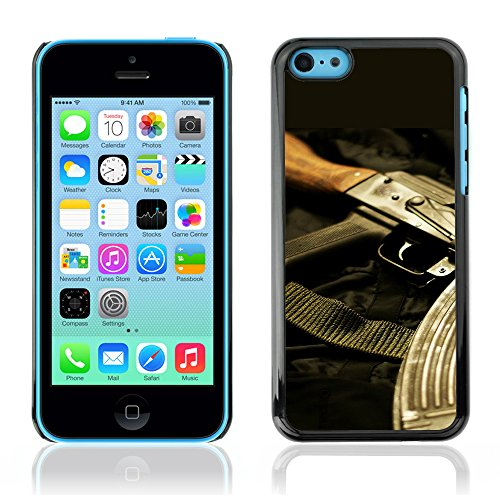 Graphic4You Silber Desert Eagle Pistole Feuerwaffe Design Harte Hülle Case Tasche Schutzhülle für Apple iPhone 5C Design #3
