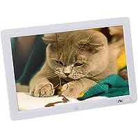 Andoer 12'' HD TFT-LCD 1280 * 800 Marco Digital de Fotos MP3 MP4 Movie Player con Remoto Control Blanco
