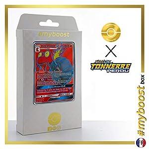 Volcaropos-GX (Magcargo-GX) 198/214 Full Art - #myboost X Soleil & Lune 8 Tonnerre Perdu - Box de 10 Cartas Pokémon Francés
